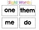 Sight Words Flash Cards Pages 12-21