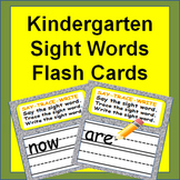 Sight Words Flash Cards - Say It, Trace It, Write It - Fun Practice