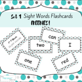 FREE Sight Word Flash Cards Set 1