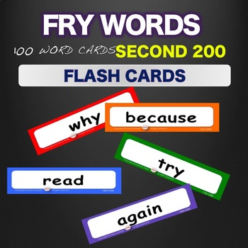 Sight Words Fry Flash Cards  Words 101-200