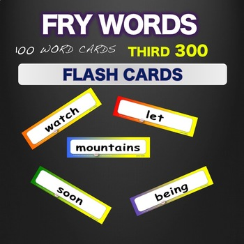 Sight Words Fry Flash Cards  Words 201-300