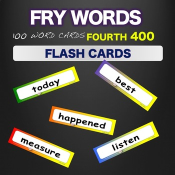 Sight Words Fry Flash Cards  Words 301-400