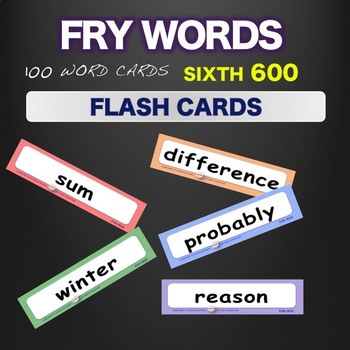Sight Words Flash Cards Words 501-600