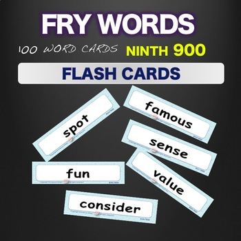 Sight Words - Flash Cards - Words 801-900
