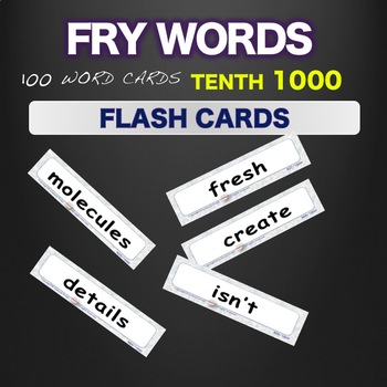 Sight Words - Flash Cards - Words 901-1000