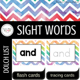 Sight Words Flash Cards/Word Wall Cards and Tracing Cards