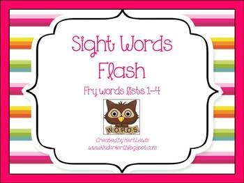Sight Words Flash- Frye Lists 1-4