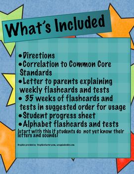 Sight Words (Flashcards and Tests)