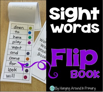 Sight Words Flip Book