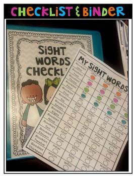 Sight Words Flip Books and Headbands