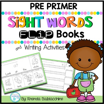 Sight Word Fluency ~ Flip Books and Writing Activities (Pre Primer)