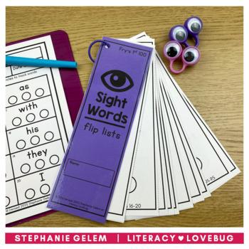 Sight Words Lists Fry's 1st 100 (EDITABLE)