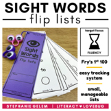 Sight Words Lists Fry's 1st 100 (EDITABLE)