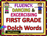 Sight Words Fluency  Dancing & Exercising FIRST GRADE Dolch Words Game Spring