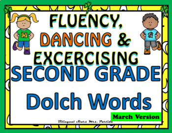 Sight Words Fluency  Dancing & Exercising SECOND GRADE Dolch Words  Game March