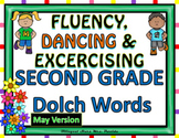 Sight Words Fluency  Dancing & Exercising SECOND GRADE Dolch Words Game May