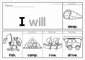 Sight Words Fluency Flip Books - Summer