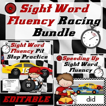 Sight Words Fluency Practice Bundle Dolch Sight Words (Editable)