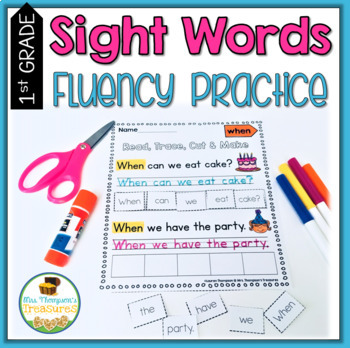 Fluency folder for first grade teaching resources teachers pay sight words fluency practice first grade sight words fluency practice first grade fandeluxe
