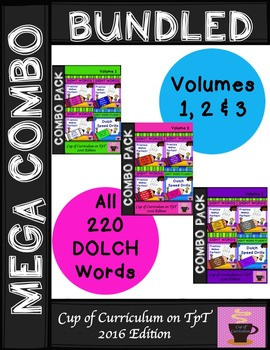 Sight Word Fluency Practice YEAR LONG BUNDLE