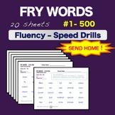 Sight Words - Fluency - Speed Drill *Fry Words 1-500*  ELA