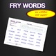 Sight Words - Fluency - Speed Drill *Fry Words 101-200*  Centers or Home Sheets