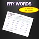 Sight Words - Fluency - Speed Drill *Fry Words 301-400*  Centers or Home Sheets