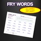 Sight Words - Fluency - Speed Drill *Fry Words 701-800*  Centers or Home Sheets
