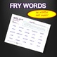 Sight Words - Fluency - Speed Drill *Fry Words 801-900*  Centers or Home Sheets