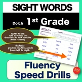 Sight Words - Fluency Speed Sheets - 1st GRADE - Pre K-3 - Dolch