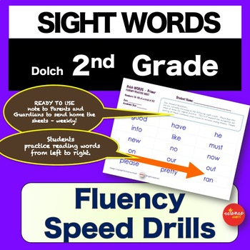 Sight Words - Fluency Speed Sheets - 2nd GRADE - Pre K-3 - Dolch