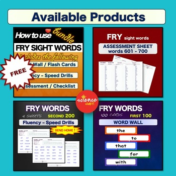 Sight Words - Fluency Speed Sheets - PRIMER - Pre K-3 - Dolch