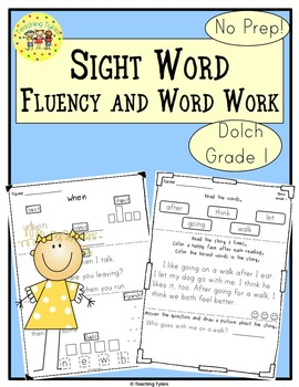 Sight Words Fluency and Word Work Dolch First Grade