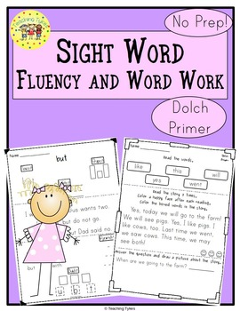 Sight Words Fluency and Word Work       Dolch Primer