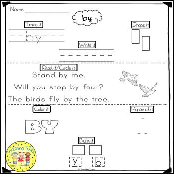 Sight Words Fluency and Word Work       Fry's First Hundred