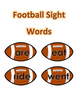 Sight Words - Football Theme