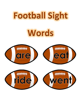 Sight Words - Football Theme
