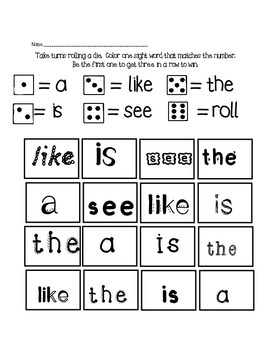 Sight Words Activities (Free)