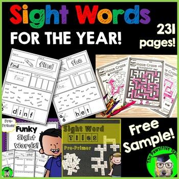Sight Words Mega Bundle FREE!