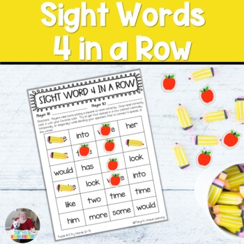 Sight Words - Four in a Row