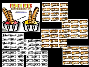Sight Words!  French Fry Sight Words!