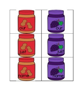 Sight Words: Fry 2nd 100 Words- Peanut Butter & Jelly Themed Activities