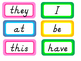 Sight Words - Fry First 100 Words in D'nealian (Bright)