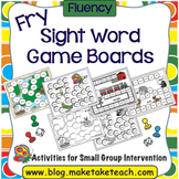 Sight Words- Fry List Game Boards