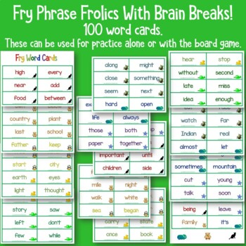 Fry Sight Word Phrases - The Third Hundred