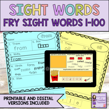 Sight Words - Fry Words: 1-100 - Primary Version