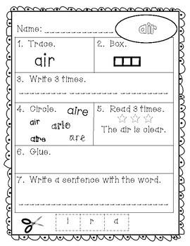 Sight Words - Fry Words: 101-200 - Older Student Version