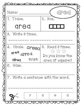 Sight Words - Fry Words: 301-400 - Older Student Version