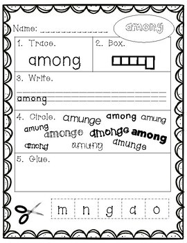 Sight Words - Fry Words: 401-500 - Primary Version