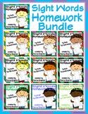 Sight Words (Fry Words)- Complete Word List Homework Packe